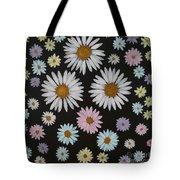 Daisies On Black Tote Bag