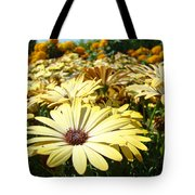 Daisies Yellow Daisy Flowers Garden Art Prints Baslee Troutman Tote Bag