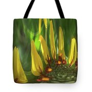 Daisy Abstract 032317-6357-4cr Tote Bag