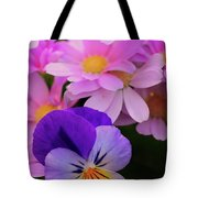 Daisy And Pansy Tote Bag