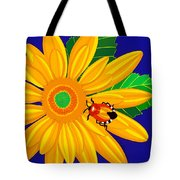 Daisy And Shieldbug Tote Bag