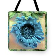 Daisy Blue Frame Tote Bag