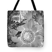 Daisy Bouquet In Black And White Tote Bag