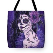 Daisy Day Of The Dead Tote Bag