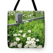 Daisy Fence Tote Bag