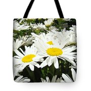 Daisy Flower Field Art Prints White Daisies Tote Bag