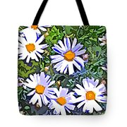 Daisy Flower Garden Abstract Tote Bag