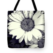 Daisy In Black And White  Tote Bag