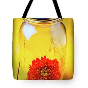Daisy In Glass Jar Tote Bag