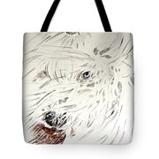 Daisy In The Snow Tote Bag