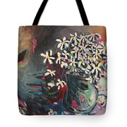 Daisy In Vase Tote Bag