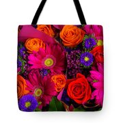 Daisy Rose Bouquet Tote Bag