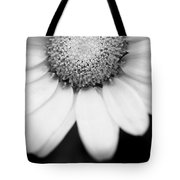 Daisy Smile - Black And White Tote Bag