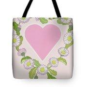 Daisy Valentine Tote Bag