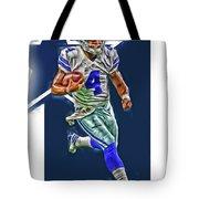 Dak Prescott Dallas Cowboys Oil Art Series 3 Tote Bag