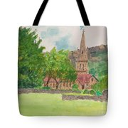 Edale Church And Beautiful Landscape Tote Bag