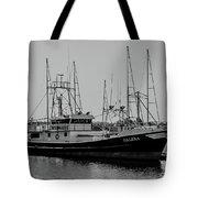 Dalena Black And White Tote Bag