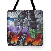 Dalinian Dreams On A Night In India Tote Bag