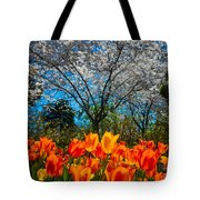 Dallas Arboretum Tulips And Cherries Tote Bag