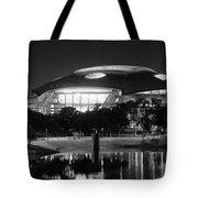 Dallas Cowboys Stadium Bw 032115 Tote Bag