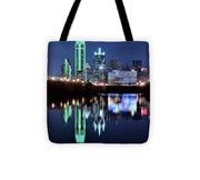 Dallas Dark Blue Night Tote Bag