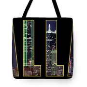 Dallas Letter Skyline 013018 Tote Bag