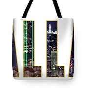 Dallas Letters Transparency 013018 Tote Bag