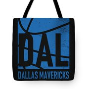 Dallas Mavericks City Poster Art Tote Bag