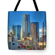 Dallas Morning Skyline Tote Bag