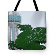 Dallas Pegasus Reunion Tower Green 030518 Tote Bag