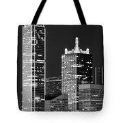 Dallas Shapes Monochrome Tote Bag