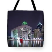 Dallas Skyline From City Hall Tote Bag