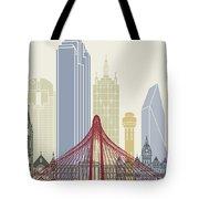 Dallas Skyline Poster Tote Bag