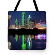 Dallas Skyline Reflection 91317 Tote Bag