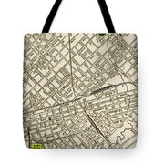 Dallas Texas Map 1899 Tote Bag