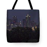 Dallas Trinity River Panorama Tote Bag
