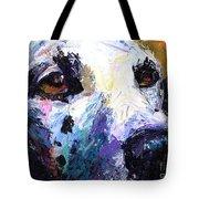 Dalmatian Dog Painting Tote Bag