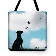 Dalmatian Dog Silhouette Tote Bag