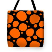 Dalmatian Pattern With A Black Background 03-p0173 Tote Bag