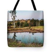Dam At Sunset Landscape Tote Bag