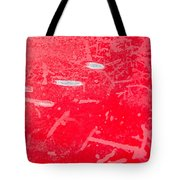 Damaged Red Metal Tote Bag