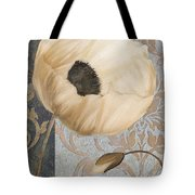 Damask Poppy Tote Bag