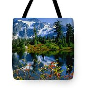 Damian Trevor - Awesome Mountain Tree Nature Landscape Tote Bag