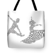 Dance Couple Words Tote Bag