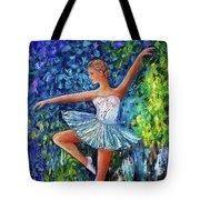 Dance In The Rain Of Color  Tote Bag