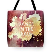 Dance In The Rain Red Version Tote Bag