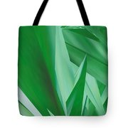 Dance Of Green Leaves Tote Bag