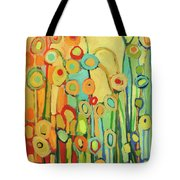 Dance Of The Flower Pods Tote Bag