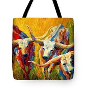 Dance Of The Longhorns Tote Bag
