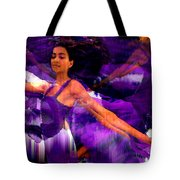 Dance Of The Purple Veil Tote Bag